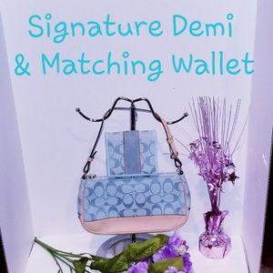 💯 Authentic Coach Demi Purse and Wallet Set
